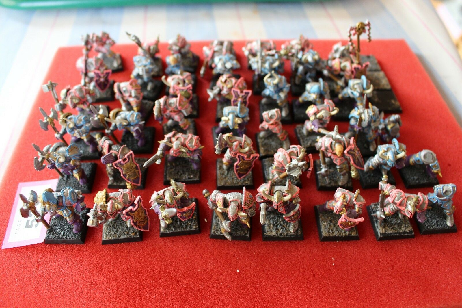 WARHAMMER CHAOS WARRIORS WARRIORS WARRIORS ARMY métal Boîtes Games Workshop peint REGIMENT GW 4081fb