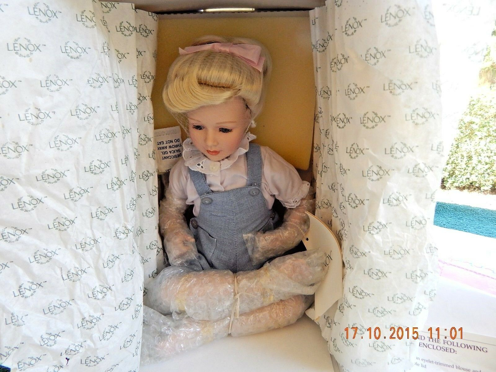 Lenox Doll Collections   Tea For Teddy    Brittany  Porcelain Doll & Her Teddy