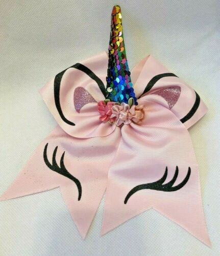 Girls Pink Ribbon Unicorn Hairband with sparkly horn