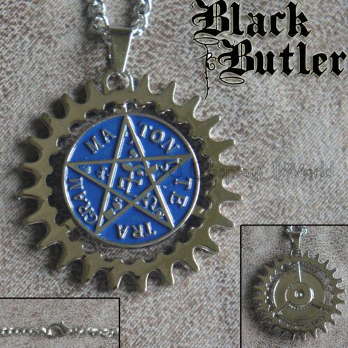 New Black Butler Alois Trancy Star Pentacle Emblem Jewelry Necklace Pendant 360°