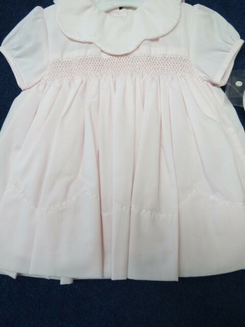 3fe211daa746 Sarah Louise girls dress size 6 mo. light pink w smocking new w tags ...