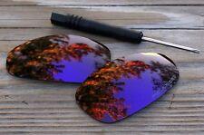 Polarized Purple Mirrored Sunglass Lenses for Oakley Juliet- Cool Green Tint