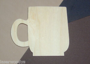 Coffee-Mug-Unfinished-Flat-Wood-Shape-Cut-Out-Variety-Szs-CM308-Crafts