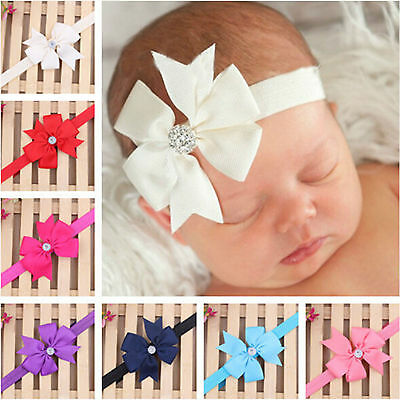 Be Cute Newborn Baby Girl Headband Infant Toddler Bow Hair Band Girls Accessorie