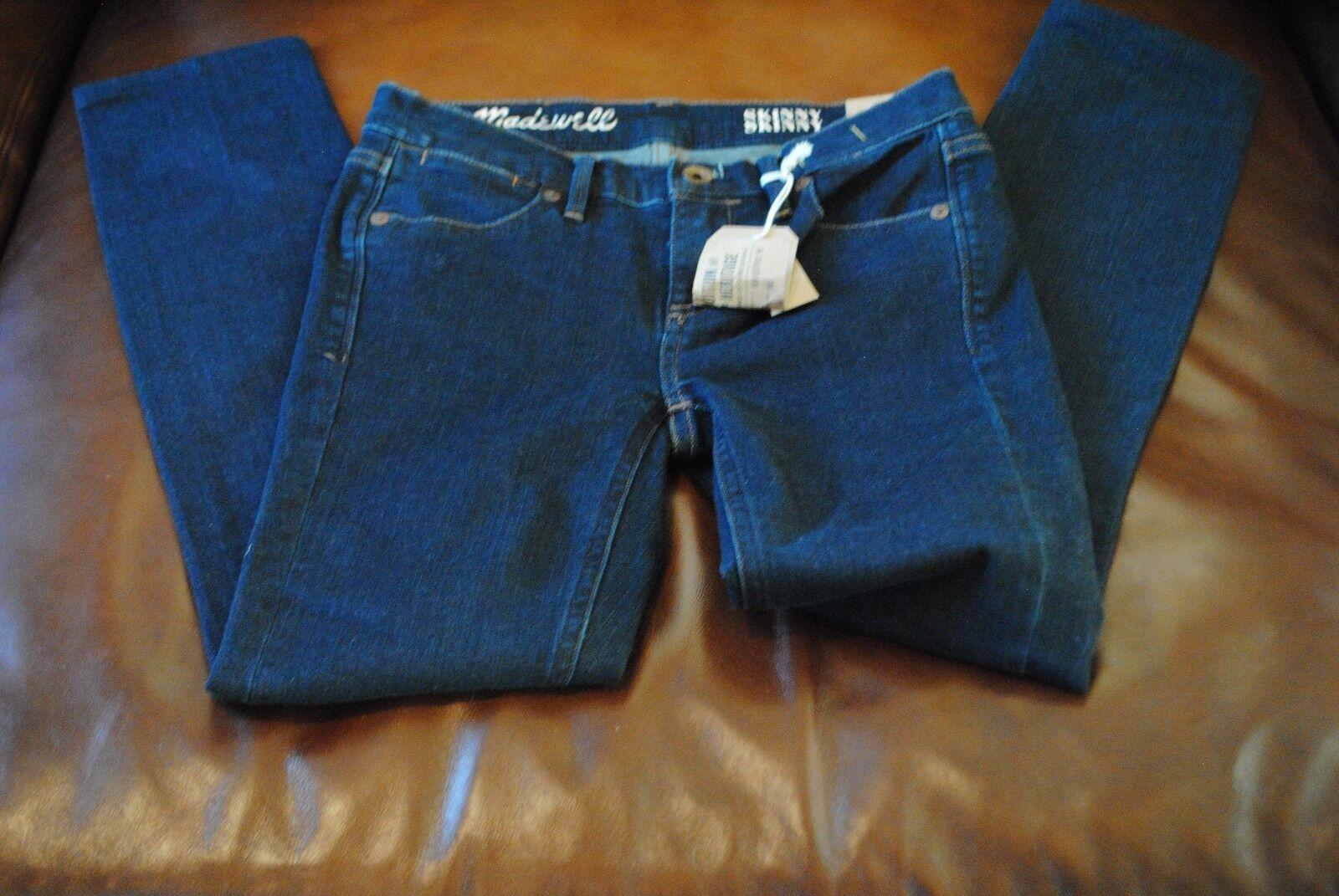 NWT Skinny Skinny Jeans in Madewell Rinse Retail  115 Sz 24