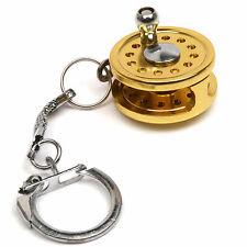 New Portable Fly Fishing Rod Reel Miniature Novelty Fishing Gift Tools Keychain
