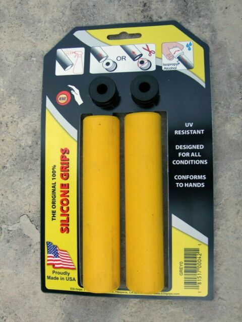 ESI Racer Edge Yellow Mountain Bike Vélo Poignées 100% silicone antichoc 130 mm 50 g