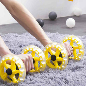 KQ-2Pcs-Fitness-Wheel-Abdominal-Exercise-Roller-Wheel-Workout-Core-Home-Gym-Pro