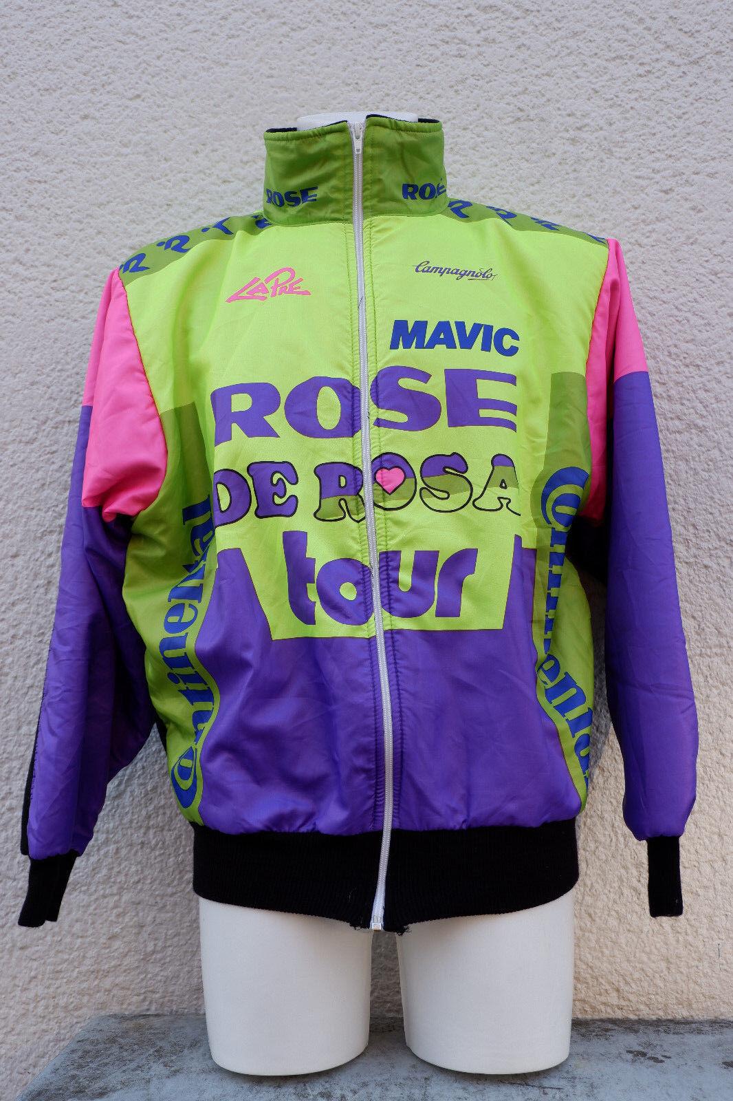 Vintage vélo de course Maillot Jersey Veste Derose Mavic Campagnolo Taille L 80 s 90 s