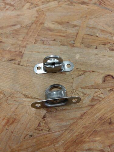 2 x Drehverschluss Nirosta V2A für 22,5 x 13,5 mm Öse Ovalösen