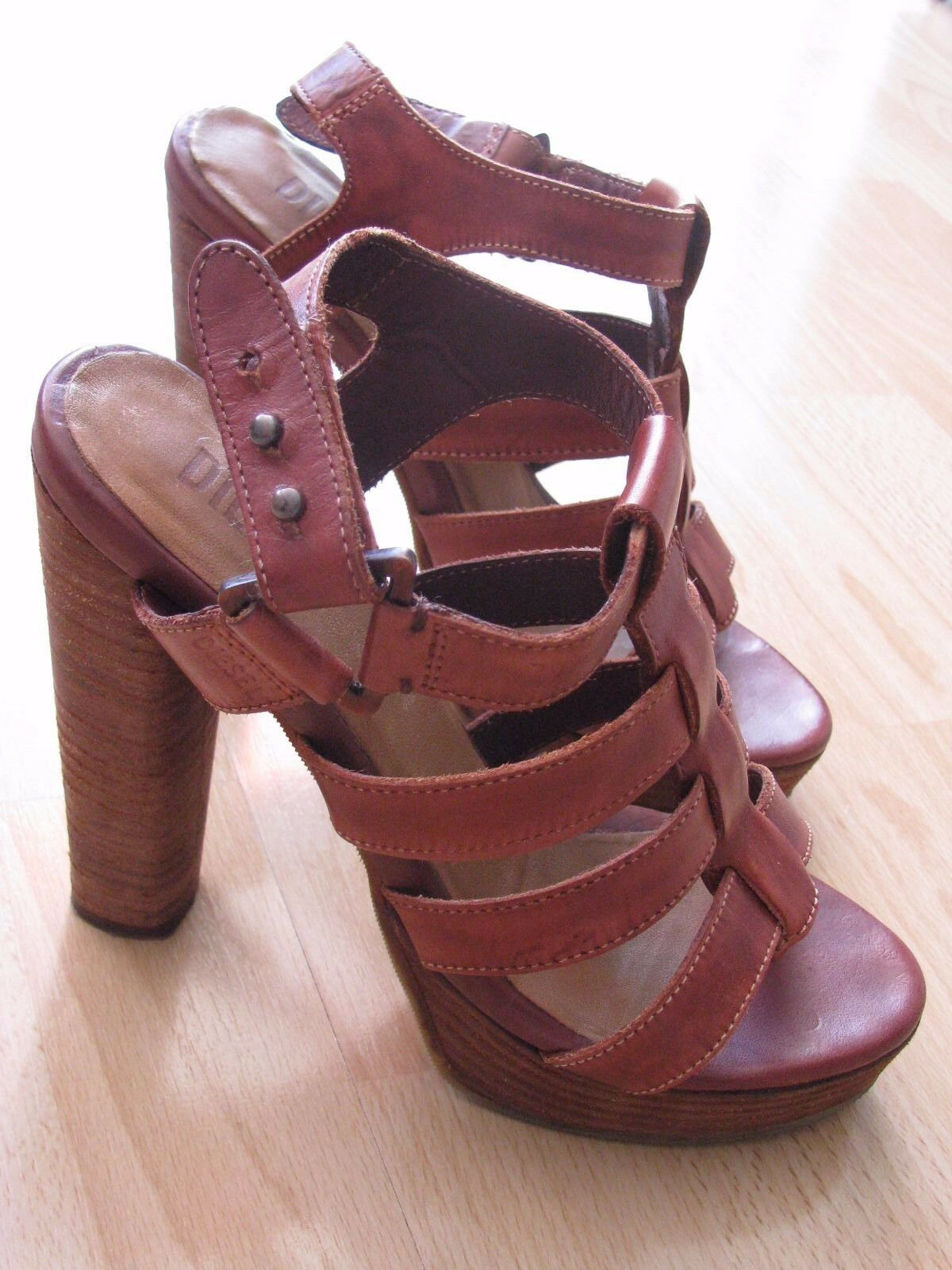DIESEL Leder Sandalette, High Heel, Damen Schuhe.Gr.39