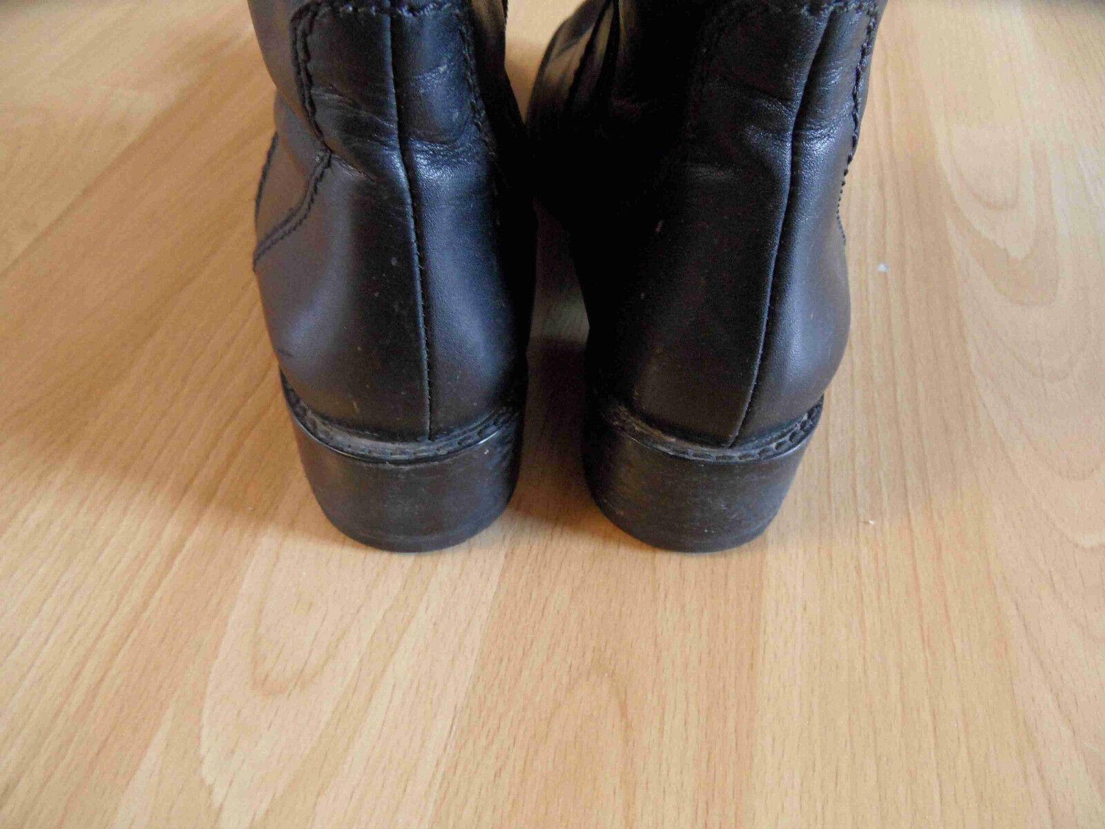 LEROY schwarz & DEE schöne hohe Lederstiefel schwarz LEROY Gr. 37  TOP  kCE915 070309