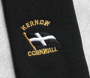 Ouvert D'Esprit Vintage Cravate Homme Cravate Crested Club Association Society Kernow Cornwall County-afficher Le Titre D'origine
