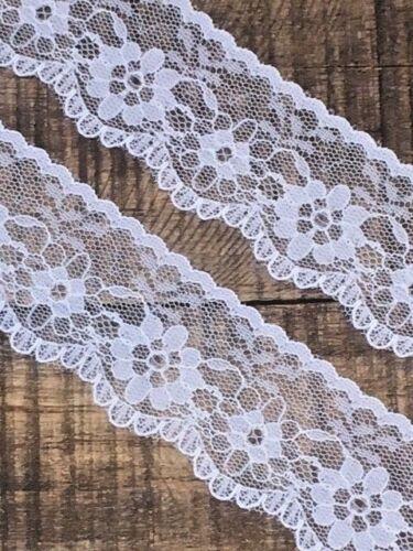 "laverslace Beautiful Delicate White Flat Lace trim 1.25/""//3.5cm Crafts Weddings"