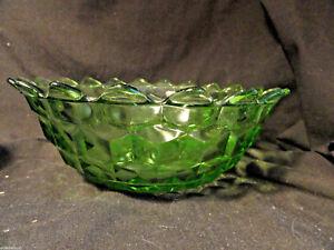 Green-Cube-Depression-Glass-Salad-Bowl-7-5-034-Mint