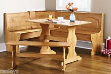 Essential Home Emily Breakfast Nook Table Set, Brown - 3 Piece