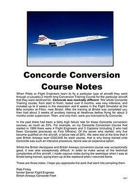 CONCORDE British Airways Flight Crew Conversion Course Notes