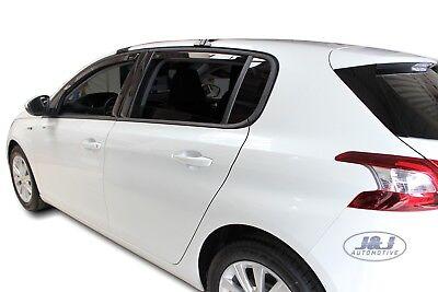 pr/és 4 pi/èces J/&J AUTOMOTIVE Deflecteurs dair d/éflecteurs de Vent Compatible avec Peugeot 208 5 Portes 2012