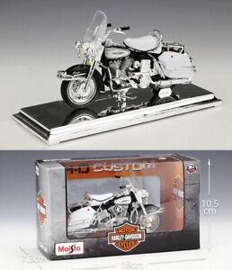 MAISTO-1-18-Harley-Davidson-1966-FLH-ELECTRA-GLIDE-MOTORCYCLE-BIKE-MODEL-Toy-NIB