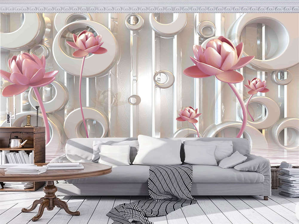 Delicate Homely Lily 3D Full Wall Mural Photo Wallpaper Printing Home Kids Decor