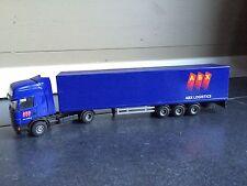 rare maquette de camion Scania (tracteur + caisse) ABX en métal  1/50 Liontoys