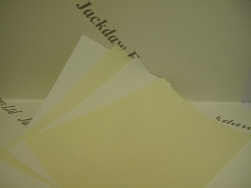 10 x Parchment Vellum Extra Heavyweight Paper A4 220gsm in White or  Cream