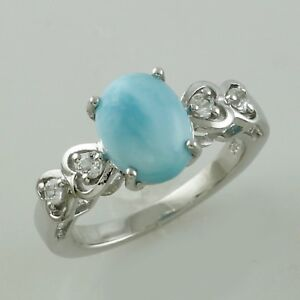 Larimar-2-98-Ct-Natural-Ring-925-Sterling-Silver-Engagement-Festival-Jewelry