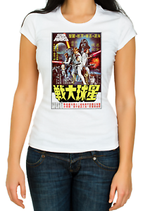 Star Wars Japanese Movie poster Short sleeve Woman T Shirt K105