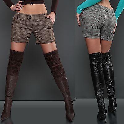 Women's Sexy Glitter Karo Shorts - S / M / L / XL