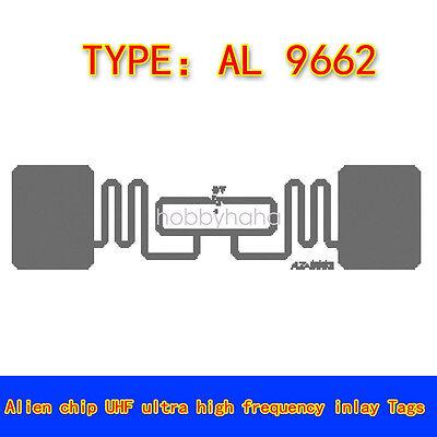 Alien 9662 3/'/'x1 /'/' UHF 6C 915Mhz RFID Kleber Nass Inlay Tag Etikett  100Pcs Lot