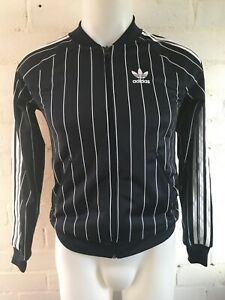 Women-039-s-Adidas-Jacket-Navy-Pinstripe-Firebird-Size-4-UK-US