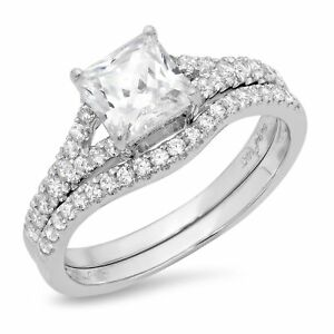 3.00 Ct Princess Cut Diamond Bridal Wedding Engagement Ring Solid 14k White Gold To Be Distributed All Over The World Engagement & Wedding Fine Jewelry