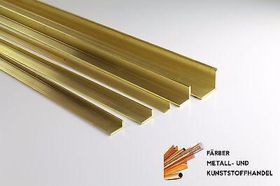 Messing Winkel Profil 20x20x2 mm Länge 250mm CuZn43Pb2Al MS56