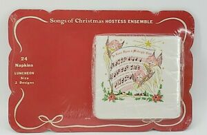 Vintage-Songs-of-Christmas-Hostess-Party-Ensemble-12-Placemats-24-Napkins-SEALED