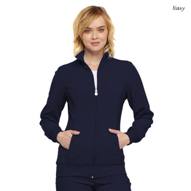 Cherokee Infinity Scrubs Women/'s Zip Front Warm-Up Jacket