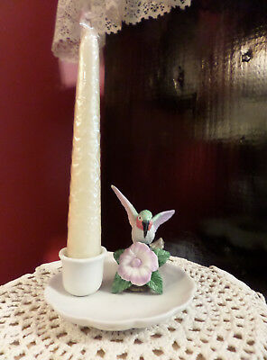 Giftco Inc Porcelain Bisque Hummingbird Candle Holder Includes taper New in Box