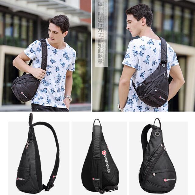 Mens/' Cross body sling bag riding chest pouch bag shoulder bag sports backpack
