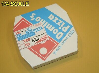 4 Easy Fold Dominos Pizza Boxes /& 2 Newspapers for 1//4 Scale TMNT