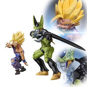 Set-DBZ-Dragon-Ball-Z-Super-Saiyan-II-Goku-Gokou-Son-Gohan-Cell-Figure-Figurine