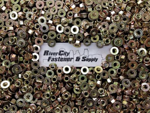 10 1//2-20 Grade 8 All Metal Flange Lock Nut 1//2 x 20 Fine Thread Lock Nuts ZY