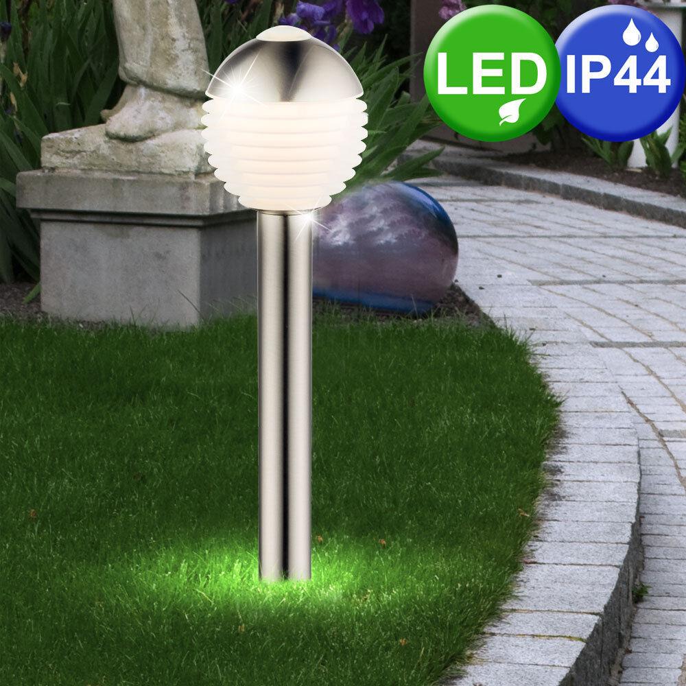 Design esterno LED Lampada Stand Piantana Lampada Balcone Sfera in Acciaio Inox Illuminazione Cortile