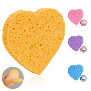Qu-Heart-Pulp-Cellulose-Sponge-Cosmetic-Face-Puff-Makeup-Remover-Cleansing-Tool