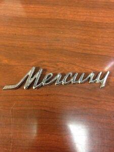 1971 Mercury Emblem Metal Nameplate Badge Ornament Old Rare Cougar