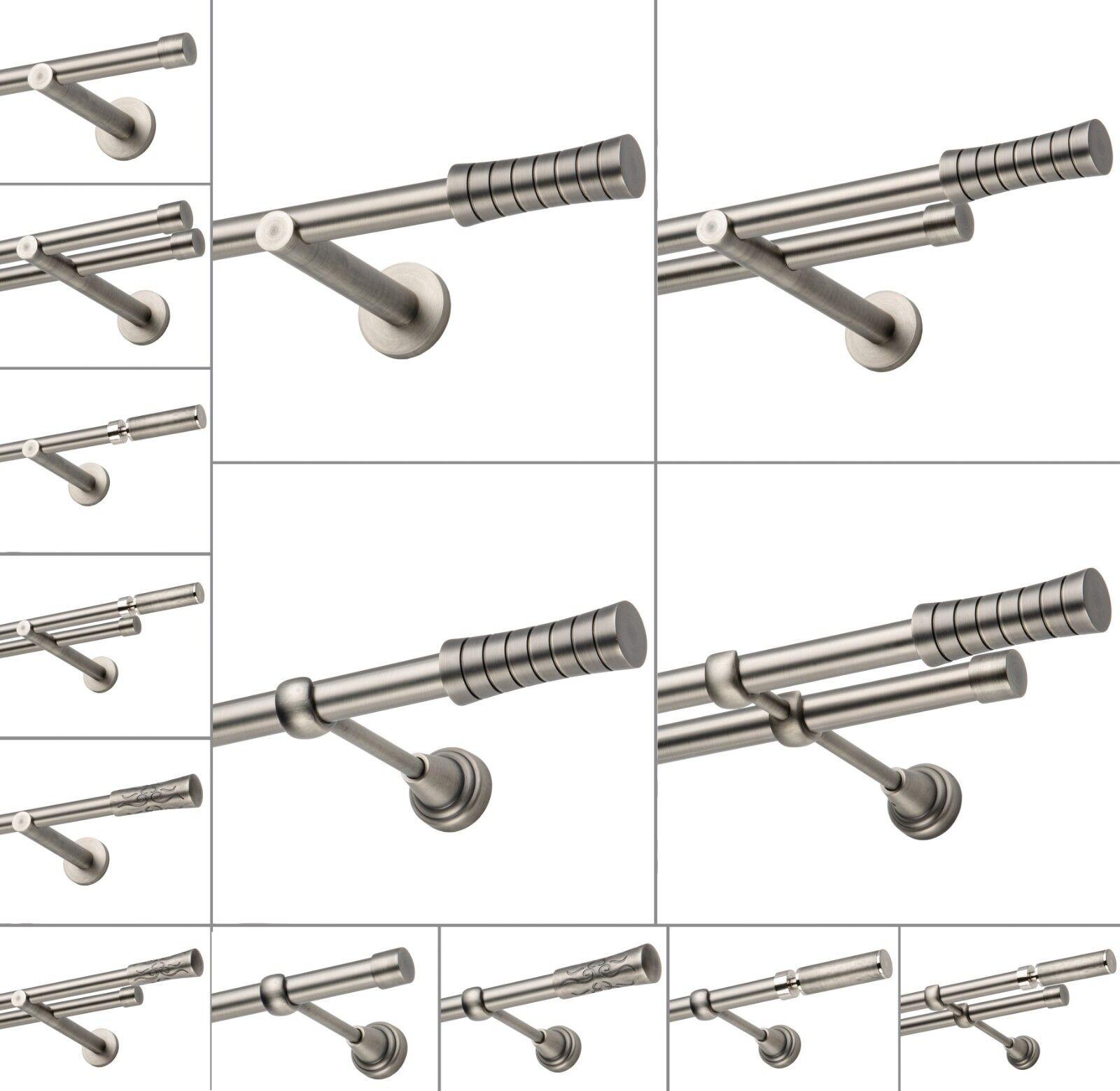 Gardinenstange 19mm 1-läufig 2-läufig Antik Stahl 120-600cm Neue Neue Neue Farbe | Die Farbe ist sehr auffällig  ab12b2