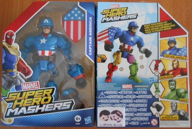 HASBRO MARVEL FIGURINE FIGURE CAPTAIN AMERICA SUPER HERO MASHERS réf B6682 NEUF