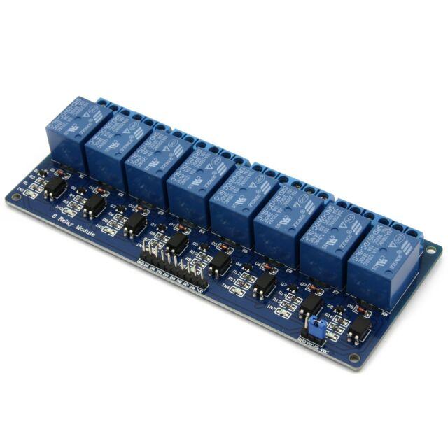 8-Kanal Relais Modul 5V/230V Optokoppler 8-Channel Relay Arduino Raspberry Pi