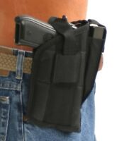 Gun Holster With Extra-magazine Holder For Tanfoglio 9 Millimeter With Laser
