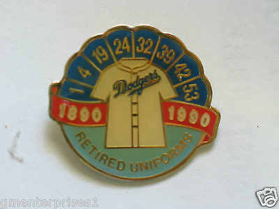 # 117 Sport Sport Baseball & Softball Vintage Dodgers Retired Uniform Pin-flagge 1890-1990,
