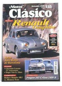 Revista Motor Clásico España 155 Diciembre 2000 Dossier Renault Dauphine