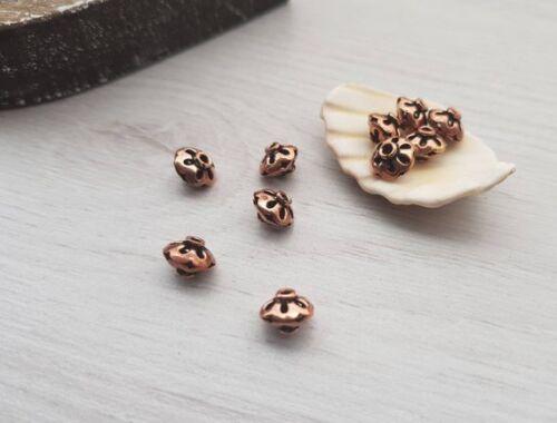 8mm Filigree Copper Bali BeadsGenuine Copper Findings2 Pcs